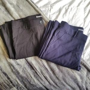 (2) BETABRAND XL long dress pants
